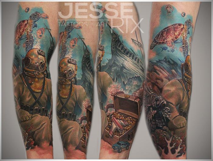 Marine Life Inspired Tattoos in Honor of National Ocean Month ...