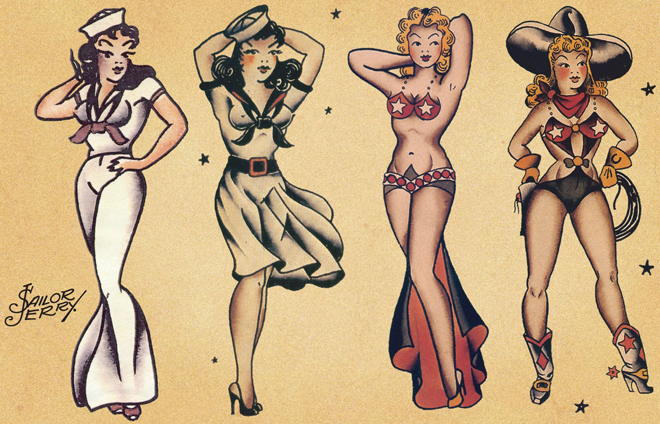 Sailor Jerry Pin Up Girl Snake