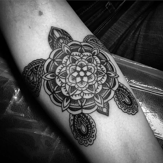 1f2f5712d A colorful, Disney mandala. We love how this is not the typical mandala  tattoo, yet still holds all the beauty of one.