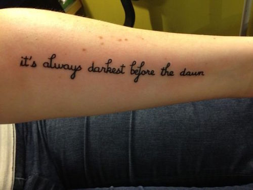 10 Tattoos for People who Battle Depression Tattoo