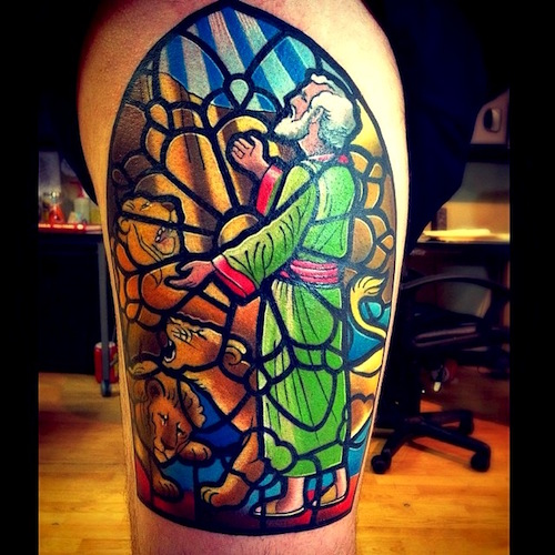 10 stunning stained glass tattoos. Black Bedroom Furniture Sets. Home Design Ideas