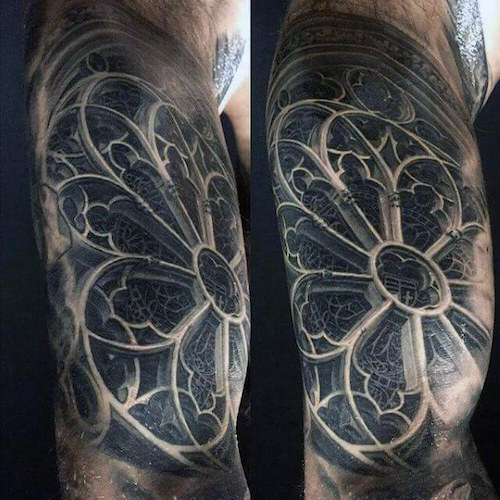 10 Stunning Stained Glass Tattoos Tattoocom