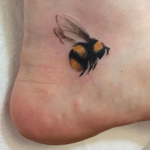 Honey Bee Tattoo Designs: Birds And Bee Tattoos To Celebrate Spring