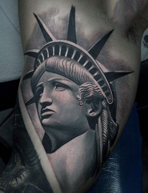 10 powerful statue of liberty tattoos