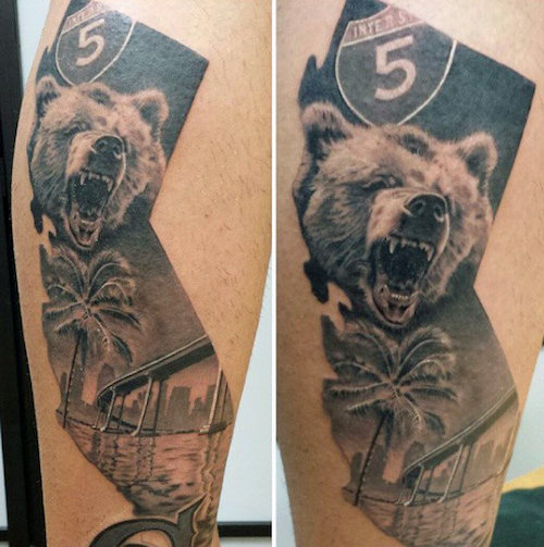 10 best california bear tattoos
