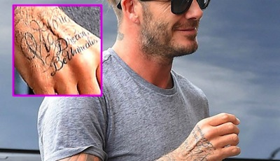 David beckham and his tattoos for 333 tattoo meaning
