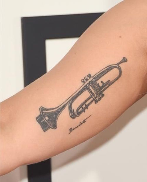 10 truly great trumpet tattoo ideas. Black Bedroom Furniture Sets. Home Design Ideas