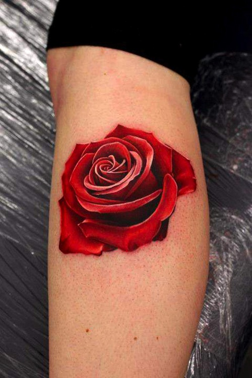 20 rose tattoos for Tattoos on old skin