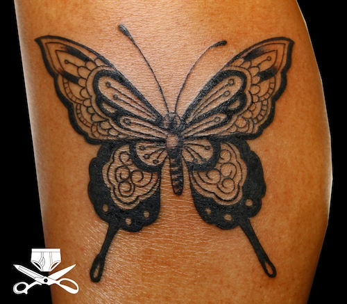3b8019c7c432b Inspired by the intricacy of lace and mehndi style temporary tattoos, this  ornate black butterfly is delicate and strong. It is a great balance for  any ...