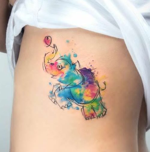 10 Watercolor Tattoos That Will Make You Say \